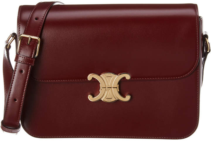 Celine Medium Triomphe Leather Shoulder Bag
