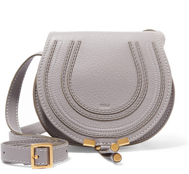 Chloé - Marcie Mini Textured-leather Shoulder Bag