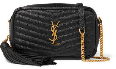 YSL Lou Mini Quilted Textured-leather Shoulder Bag