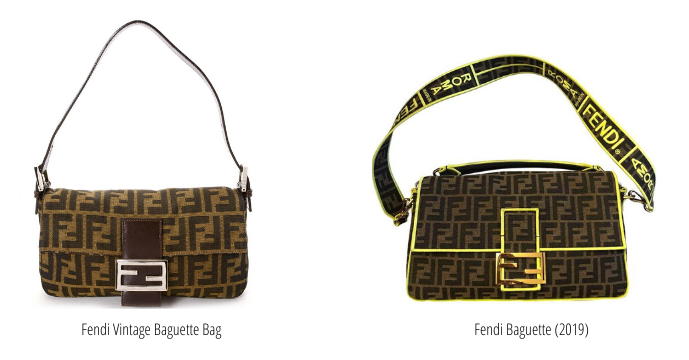 Vintage vs. new Fendi Baguette Bag
