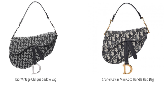 Vintage vs. new dior saddle bag