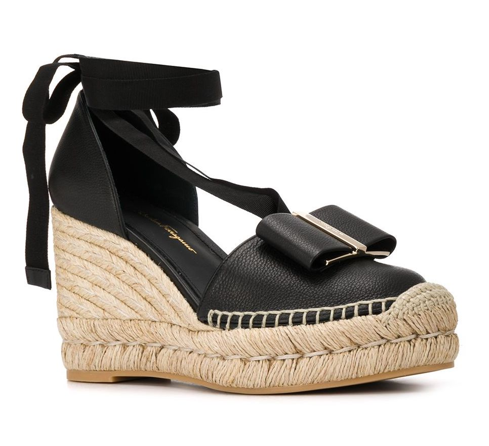 Salvatore Ferregamo Vara Bow Wedge Espadrilles