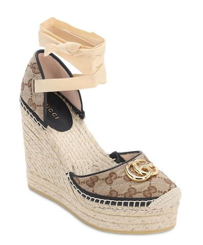 Gucci Pilar Quilted Canvas Espadrilles
