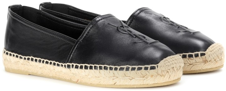 YSL Monogram Leather Espadrilles