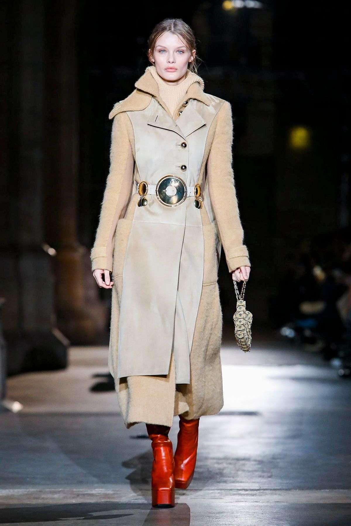 Paco Rabanne RTW FW20 70's inspired coat