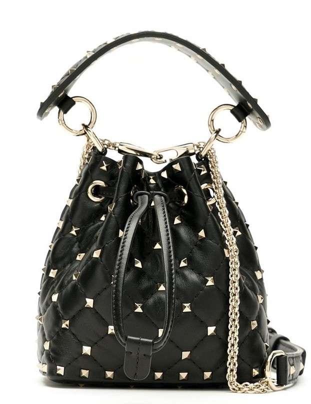 Valentino Rockstud Spike Mini Bucket Bag