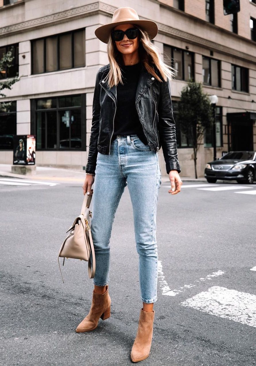 Leather Jacket Outfit Ideas