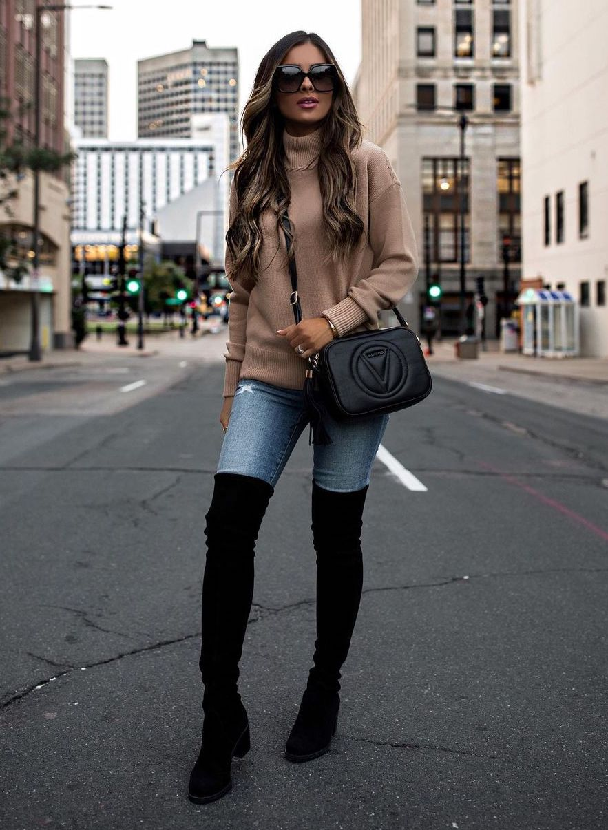 Ovet-the-knee boot outfit ideas
