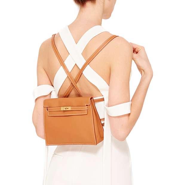 Hermes Kelly Danse worn as a backpack