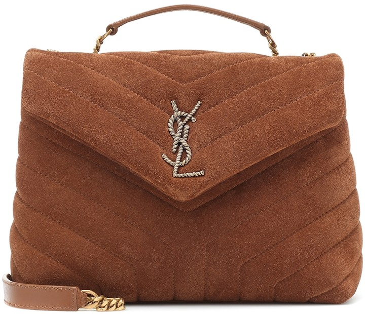 YSL small loulou bag in suede