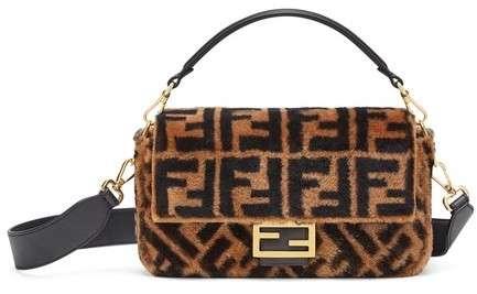 Fendi Shearling Baguette Bag