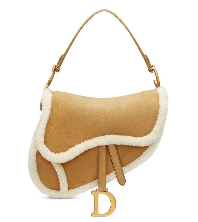 Dior Shearling Saddle Bag Fall/Winter 2020