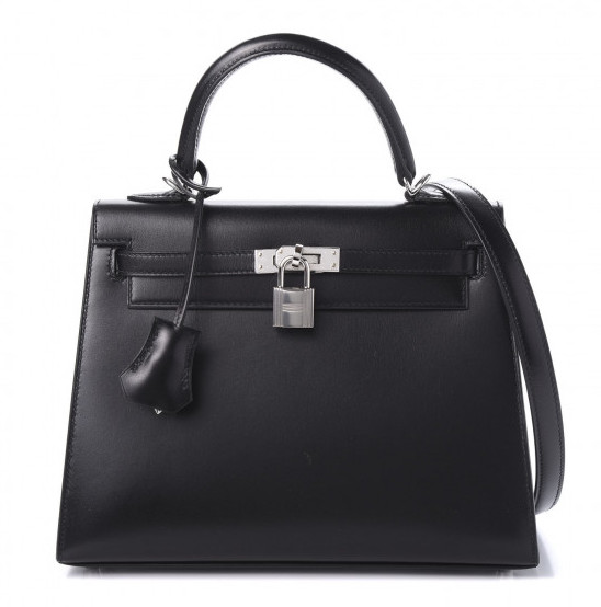 Hermes Kelly 25 Sellier Black