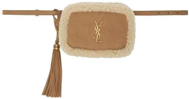 Saint Laurent Shearling Lou Belt Bag