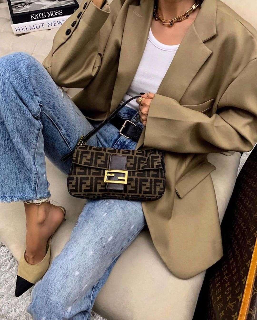 Fendi Baguette Bag Outfit ideas