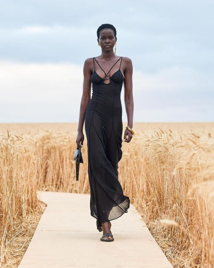 Jacquemus S/S 2021 black cutout dress
