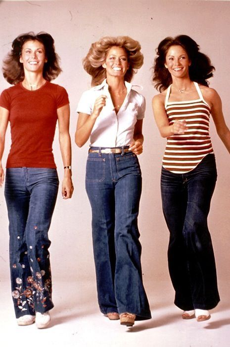 Flared jeans in the 70s