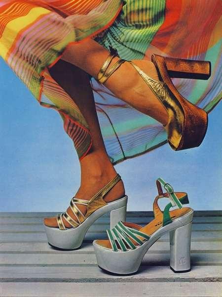70s womens platform sandals