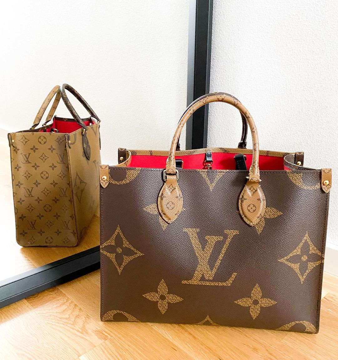 Louis Vuitton Onthego MM Monogram Reverse Canvas