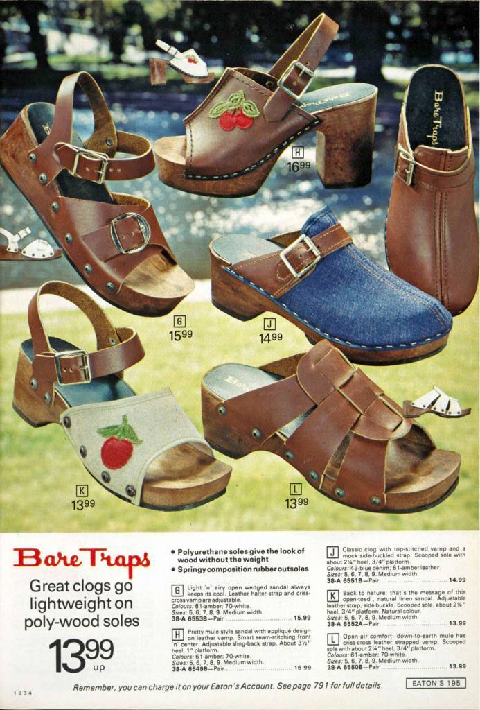 women's clogs 1970s