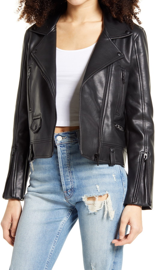 BLANKNYC Faux Leather Moto Jacket