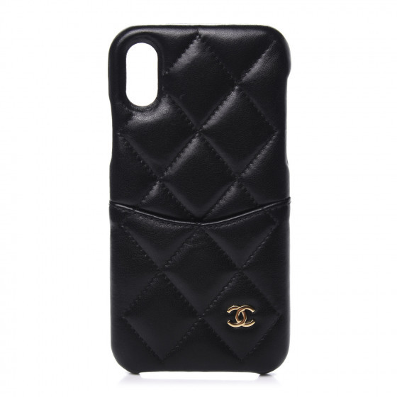 Chanel Lambskin Quilted Phone Case