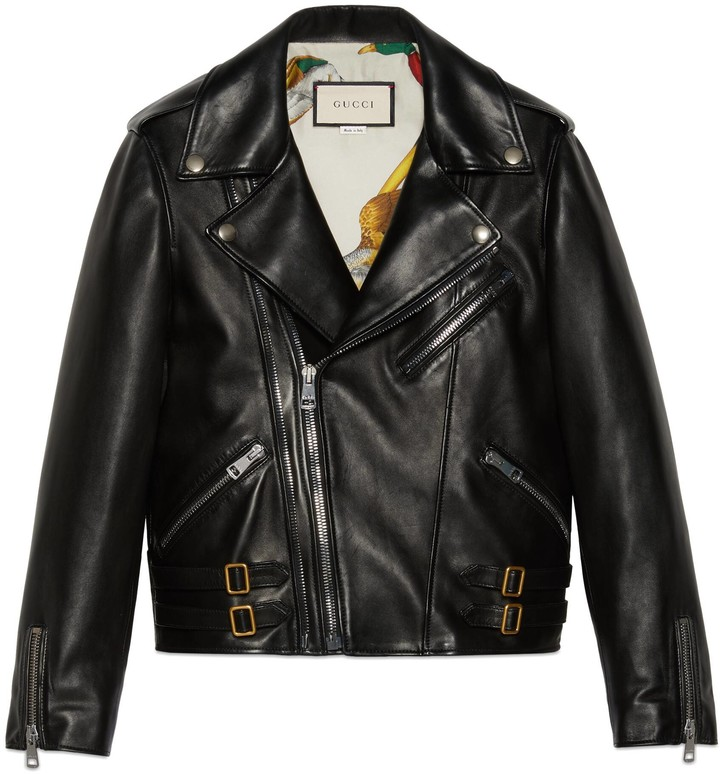 Gucci Plongé leather biker jacket