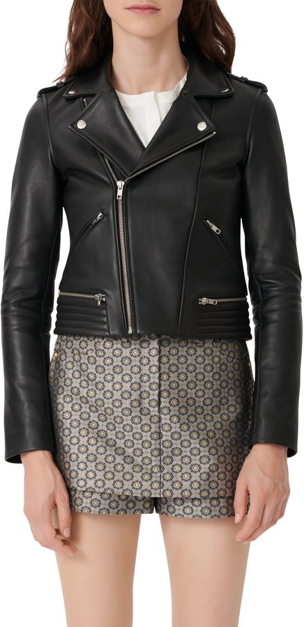 Maje Leather Biker Jacket