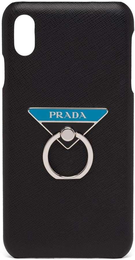 Prada Ring-Detail Phone Case