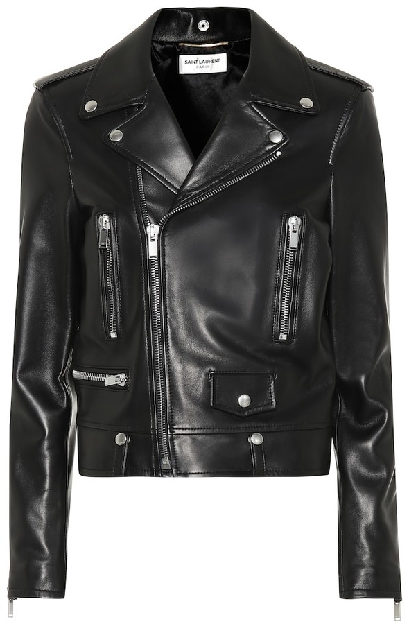 Saint Laurent Leather Biker Jacket.