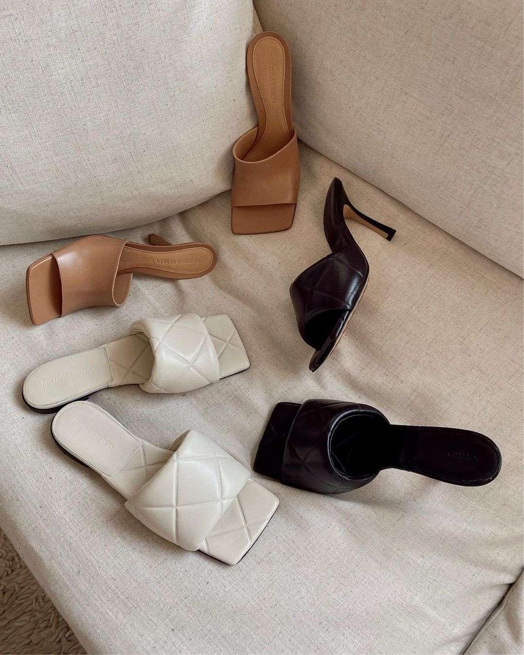Bottega Veneta square-toe sandals