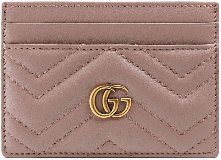 Gucci GG Marmont Card Case Pink