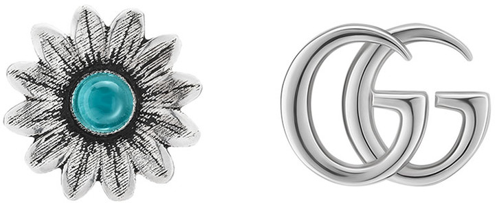 Gucci GG Marmont Sterling Silver Studs