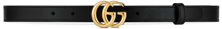 Gucci GG Marmont Thin Leather Belt