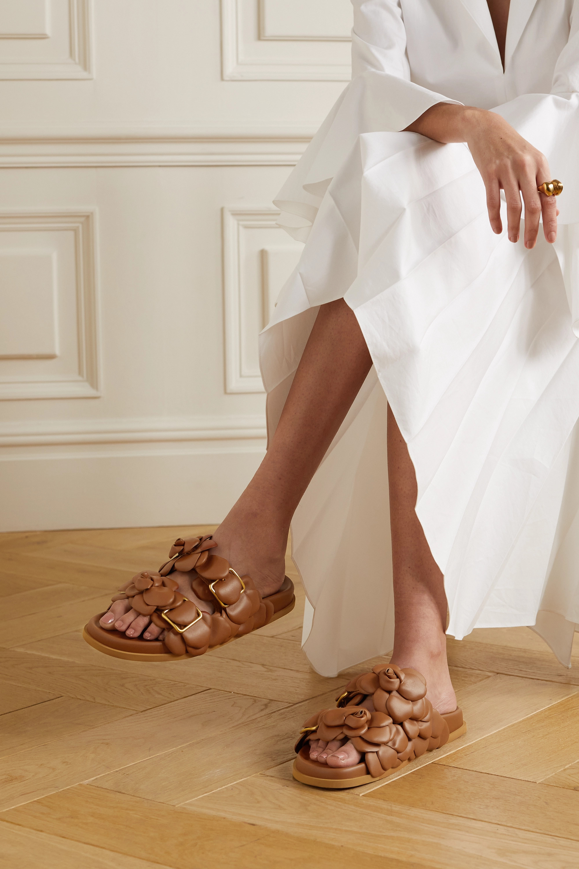 Valentino Rose Edition Atelier leather sandals