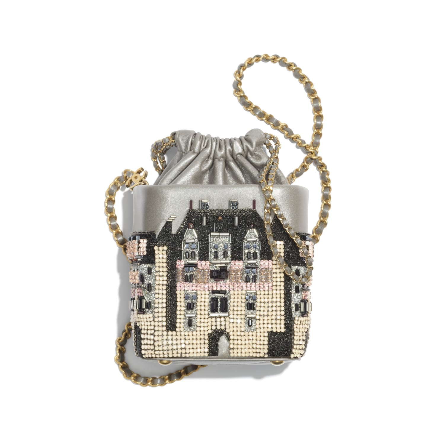Chanel Small Bucket with Chain Métiers D'Art 2021
