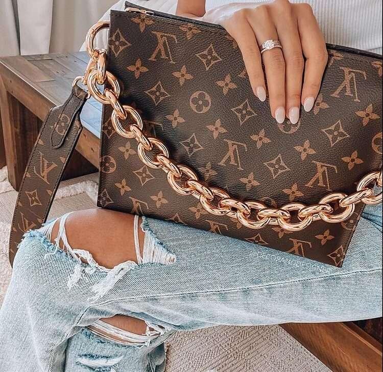 Louis Vuitton Toiletry worn as a bag