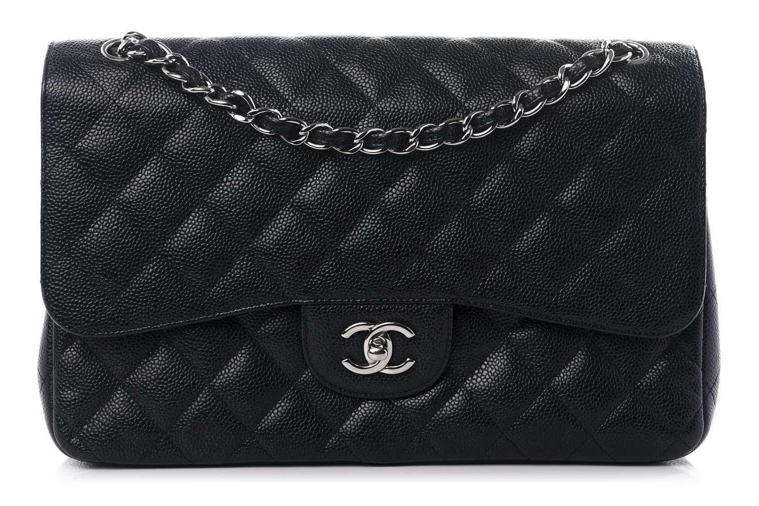 Chanel Caviar Jumbo Classic Flap Black
