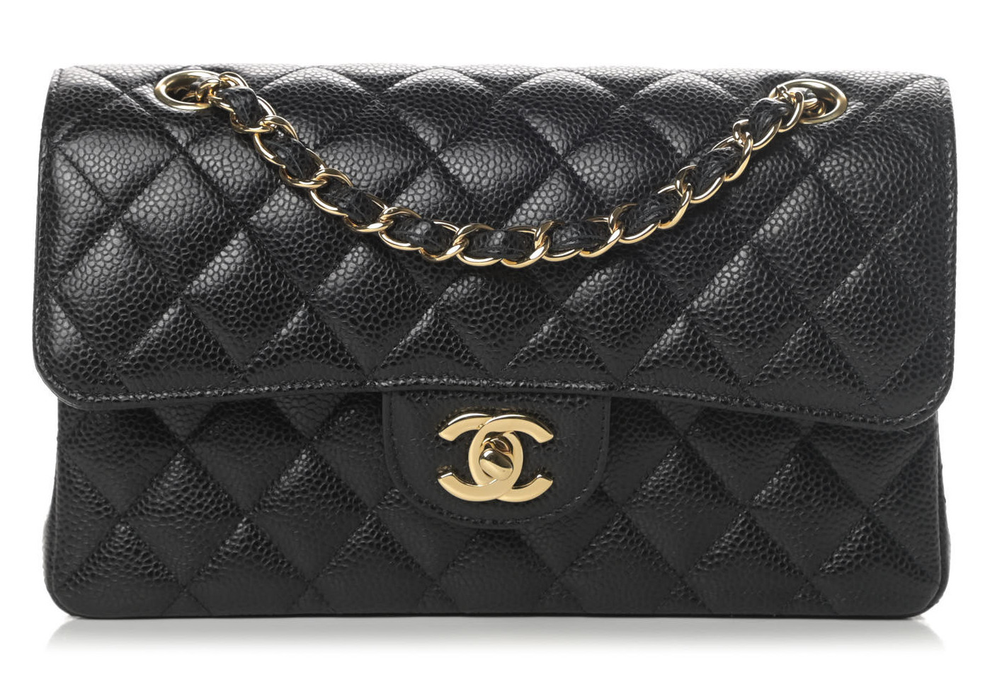Chanel Small Classic Flap Black Caviar Leather