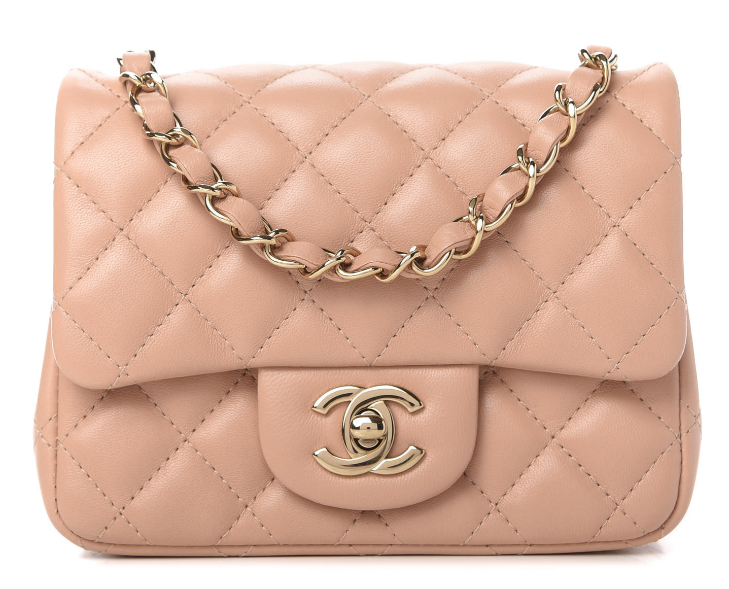 Chanel Square Mini Flap Beige